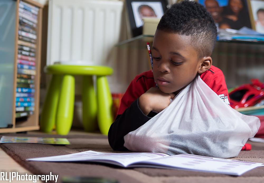 photoblog image Getting his maths on...